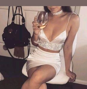 Other - Nwt Silk Top & Matching Skirt Size Medium
